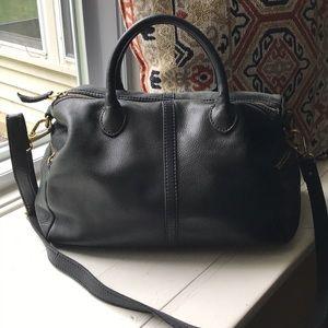 Black Vintage Fossil Crossbody/Hand Bag